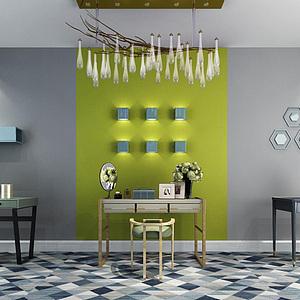 梳妆台墙饰品组合模型3d模型