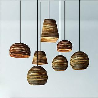 现代创意编织吊灯3d模型