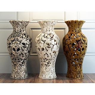 雕花镂空大花瓶3d模型
