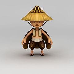 3D模型卡通角色牧童