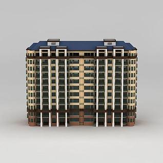 小高层住宅楼3d模型