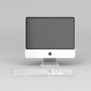 3d苹果台式<font class='myIsRed'>电脑</font>模型