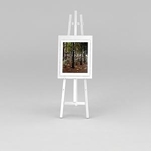 油画和油画架模型