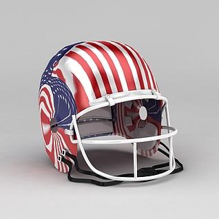 复古美式头盔3d模型