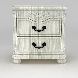 简欧床头柜3d模型3d模型