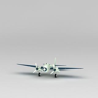 复古战斗机3d模型