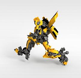 3d变形金刚玩具模型