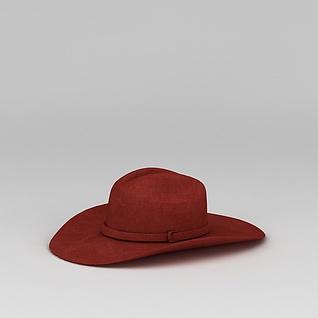 红色帽子3d模型