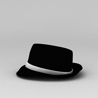 男士黑色帽子3d模型