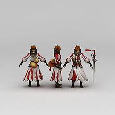 游戏人物李白3D模型3d模型