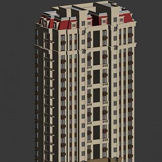 高层楼房3d模型