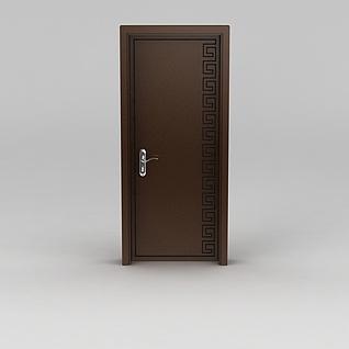中式室内木门3d模型