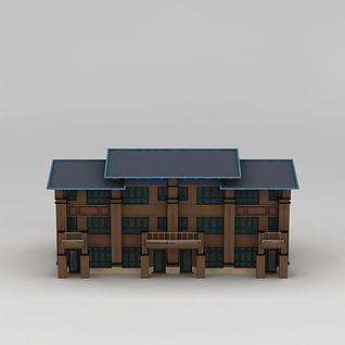 三层别墅3d模型