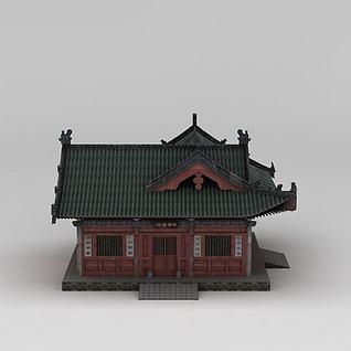中国古代书院3d模型