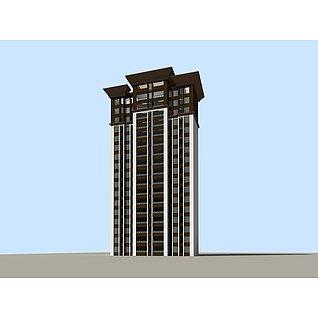 高层板楼3d模型