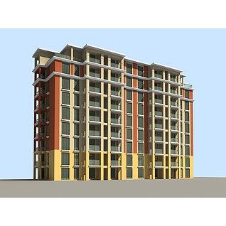 多层公寓楼3d模型