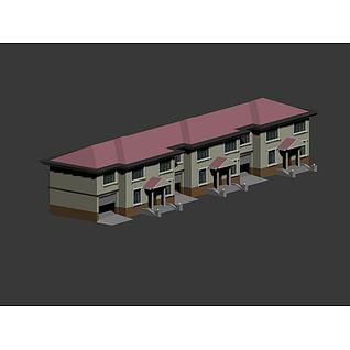 二层住宅楼3d模型