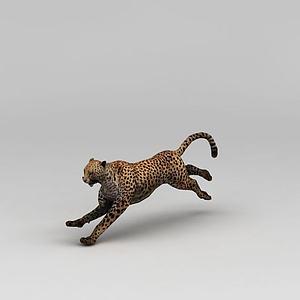 奔跑的豹子模型