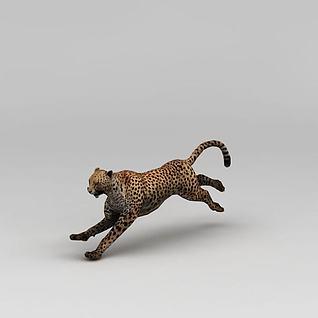 奔跑的豹子3d模型
