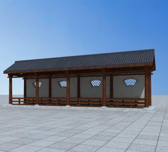 中式古典廊架