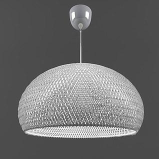 时尚网状灯罩吊灯3d模型