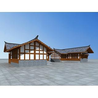 川西民居3d模型