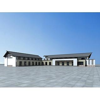 新农村村委会3d模型
