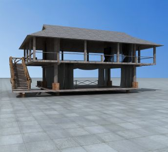 二层木屋房子