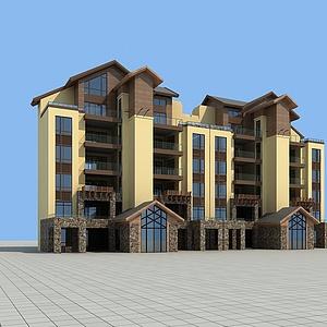 花园洋房模型3d模型