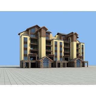 花园洋房3d模型