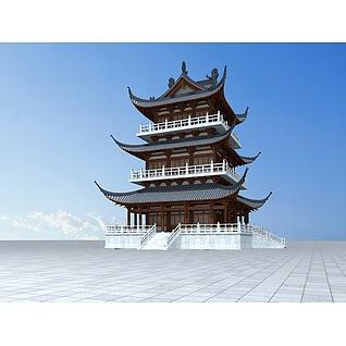 唐代阁楼3d模型