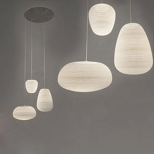 现代艺术吊灯组合3d模型