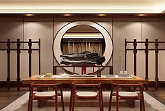 新中式茶室桌椅陈设品组合模型3d模型