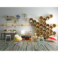 儿童书桌椅玩具储物柜组合3D模型3d模型