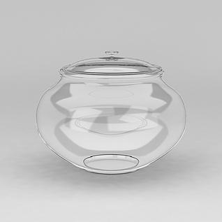 透明玻璃坛子3d模型