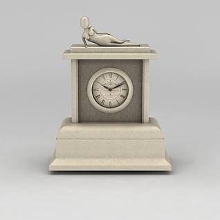 现代创意座钟3d模型