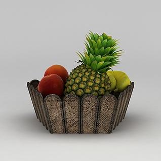 水果盘3d模型