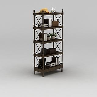 四层花架置物架3d模型3d模型