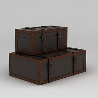 复古美式箱子3d模型