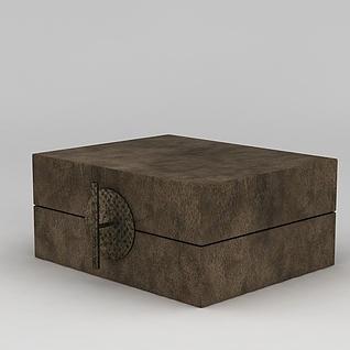 复古箱子盒子3d模型