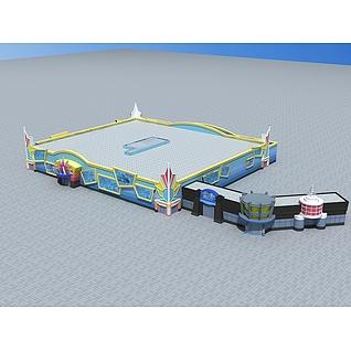 游乐场电影院3d模型