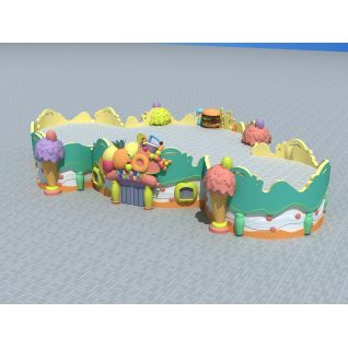 游乐园甜品屋3d模型