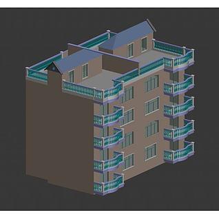小洋房3d模型