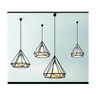 咖啡厅餐厅钻石吊灯3d模型