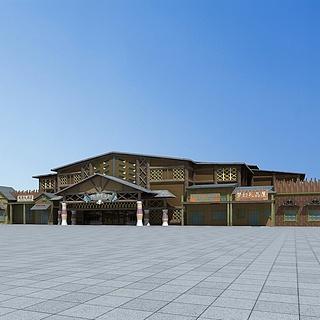 游乐园丛林屋3d模型