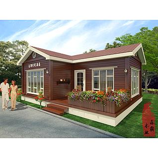 花园木屋3d模型