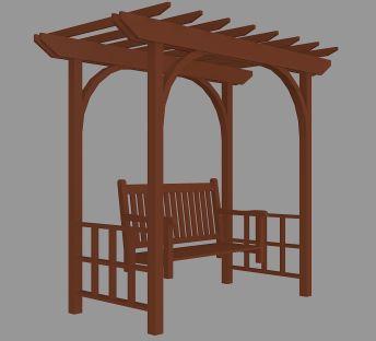 木质花园廊架