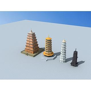 佛塔3d模型