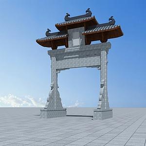 3d通濟橋<font class='myIsRed'>牌坊</font>模型