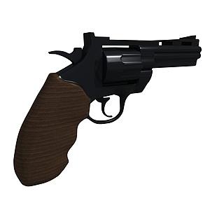 3d左轮手枪模型